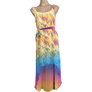 Amazing women's multicoloured summer beach HIGH LOW flowy DRESS ♡